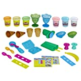 Play-Doh Kitchen Creations Ice Cream Party Play Food Set with 6 Non-Toxic Colors, 2 Oz Cans (Amazon Exclusive) (Color: Brown)