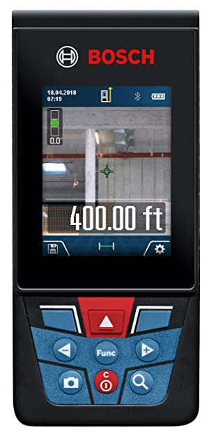 Bosch GLM400CL Blaze Outdoor Laser Measure with Camera, 400'