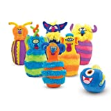 Melissa & Doug Fuzzy Monster Bowling Pins & Ball with Mesh Storage Bag (8 Piece)