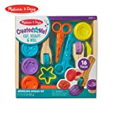 Melissa & Doug Cut, Sculpt, and Roll Clay Play Set With 8 Tools and 4 Colors of Modeling Dough (Color: Multi)