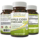 Apple Cider Vinegar 1500, Raw Organic NON-GMO (120 Capsules)