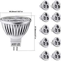 10-Pack JACKYLED MR16 4W Dimmable LED Warm 3000K Bulbs