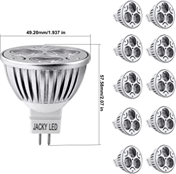 10-Pack JACKYLED MR16 4W Dimmable LED Bulbs