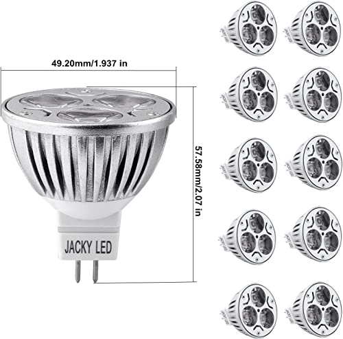 10-Pack MR16 4W Dimmable LED Bulbs