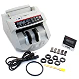HFS Bill Money Counter Worldwide Currency Cash Counting Machine UV & MG Counterfeit (Color: Gray, Tamaño: Deluxe)