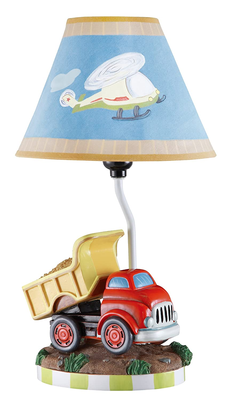 Teamson Kids Boys Transportation Table Lamp