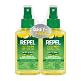 REPEL Plant-Based Lemon Eucalyptus Insect Repellent, Pump Spray, 2/4-Ounce