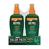 Repel Insect Repellent Sportsmen Max Formula Spray Pump 40% DEET, 2/6-Ounce (Tamaño: 6-Fluid-Ounce)