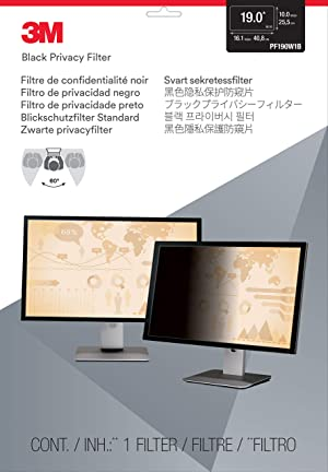 3M Privacy Filter for 19.0 Widescreen Monitor (16: 10 Aspect Ratio) (Color: Black, Tamaño: 19)