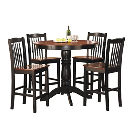 Homelegance 2458-36 5-Piece Round Counter Height Dining Set