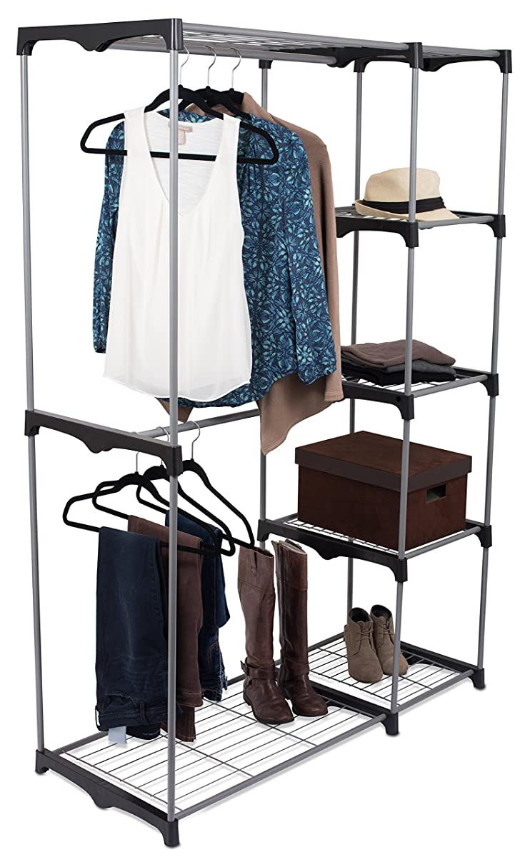 Internets Best Portable Closet Organizer Double Rod