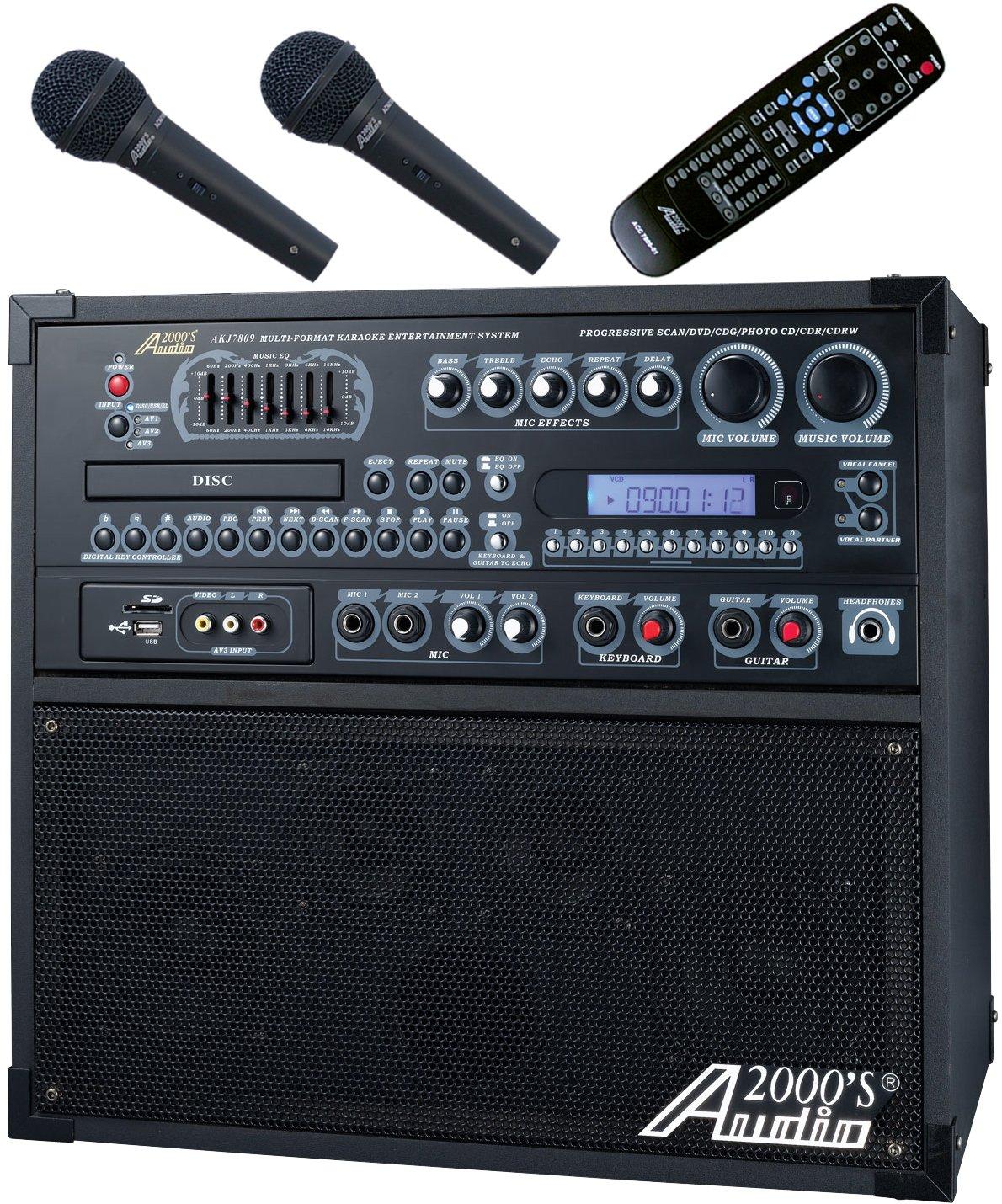 Audio2000'S AKJ780E Portable Karaoke System