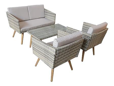 Jardín Set Cassis Amarillo de gris claro moteado. Lounge Jardín muebles de jardín Set Nuevo Retro Diseño Nuevo Barato Jet de Line comprar