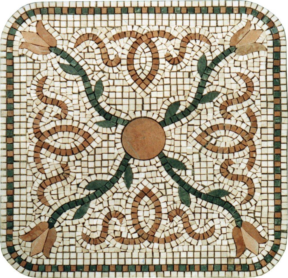 Yellow Impression Marble Mosaic Tiles Wall Bath Home Decor Medallion Floor Art (60