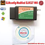 OTKEFDI ELM327 WiFi, ELM-327 WiFi Modified ELM 327 WiFi Switch-HS-CAN and MS-CAN ELM327 WiFi Config OBD Self Diagnostic Tool (Color: BLACK OBD ELM 327, Tamaño: S ELM327 OBD)