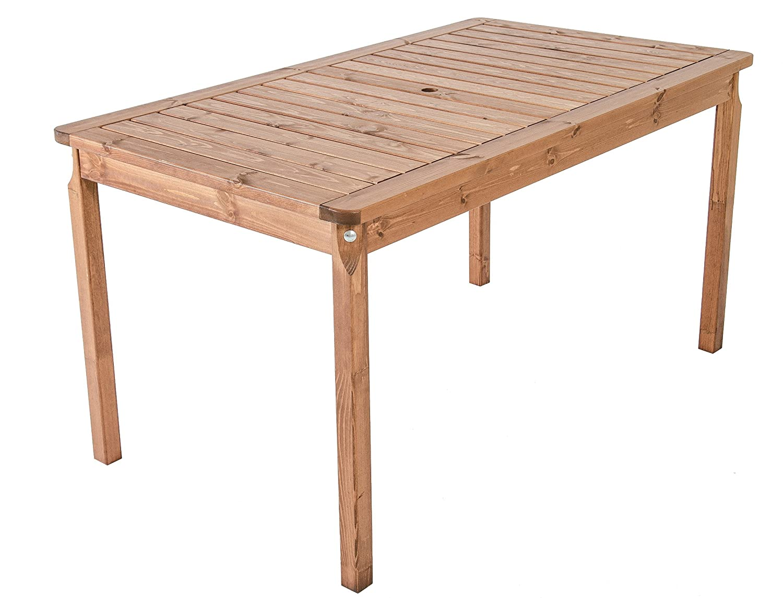 GARDENho.me Nordische Gartenmöbel Massivholz Tisch EVJE 5 Farbvarianten Gartentisch Esstisch Braun online bestellen
