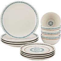 Rachael Ray Cucina Sun Daisy 12-pc. Stoneware Dinnerware Set