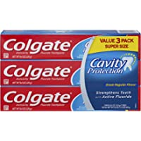 Colgate Cavity Protection 8 ounce (3 Count) Toothpaste with Fluoride