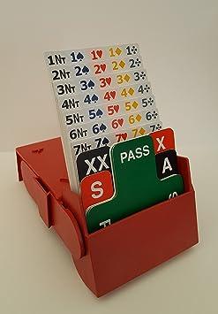 Superbridgebox–Pont Boîtes pour Commander, des Ensembles de 4avec 100% plastique Biddingcards (Rouge)