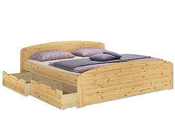 Funktionsbett Überlänge 180x220 Doppelbett Bettkasten Matratzen Federholzrahmen 60.50-18-220 M2 FV