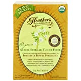 Heather's Tummy Fiber Organic Acacia Senegal Travel Packets for IBS, 25 Count (Tamaño: 25)