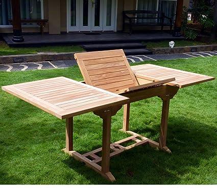 Table de jardin en teck pour 8 personnes