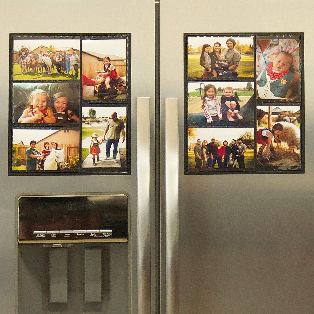 "#1 Magnetic Picture Frame Collage For Refrigerator – Holds 10 – 4×6 Photos – Organizes Your Fridge For That Model Home Look – ""Slam-Proof"" Flexible Magnet Photo Frame – Makes For a Great Gift – Affordable Way To Protect & Display Your Family Memories! –"