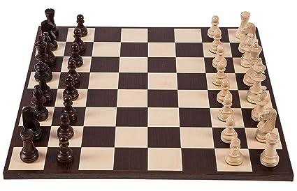 Pro Set de jeu d'échecs no 6 - AMÉRIQUE - Échiquier + Pièces d'échecs - Staunton 6