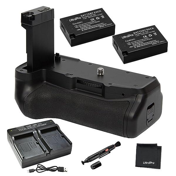 Battery Grip Bundle F/Canon Rebel T7i, EOS 77D EOS 800D