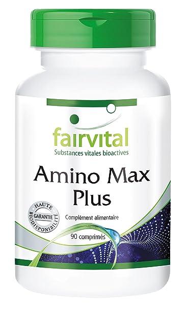 Amino Max Plus - 90 comprimés - 13 acides aminés et de la choline - riche en BCAA