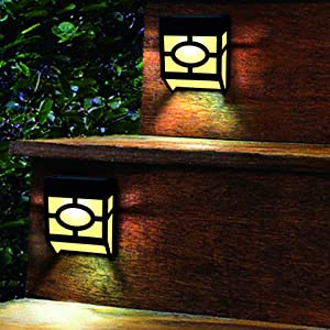 Greluna Solar Wall Lights Outdoor, 2 Modes Solar Led Waterproof Lighting for Deck, Fence, Patio, Front Door, Stair, Landscape, Yard and Driveway Path,Warm White/Color Changing,Pack of 8 (Color: White, Tamaño: 8 Pack)