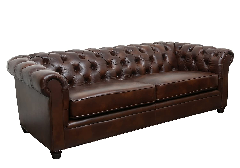 Abbyson Living Foyer Premium Italian Leather Sofa