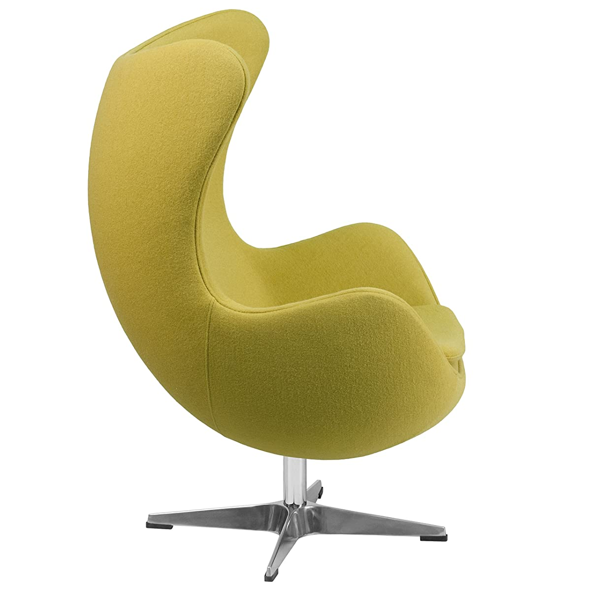 Flash Furniture Citron Wool Fabric Egg Chair with Tilt-Lock Mechanism