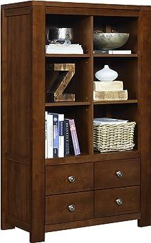 Altra Furniture Vermont Farmhouse 6 Cube Bookcase, Madison Cherry