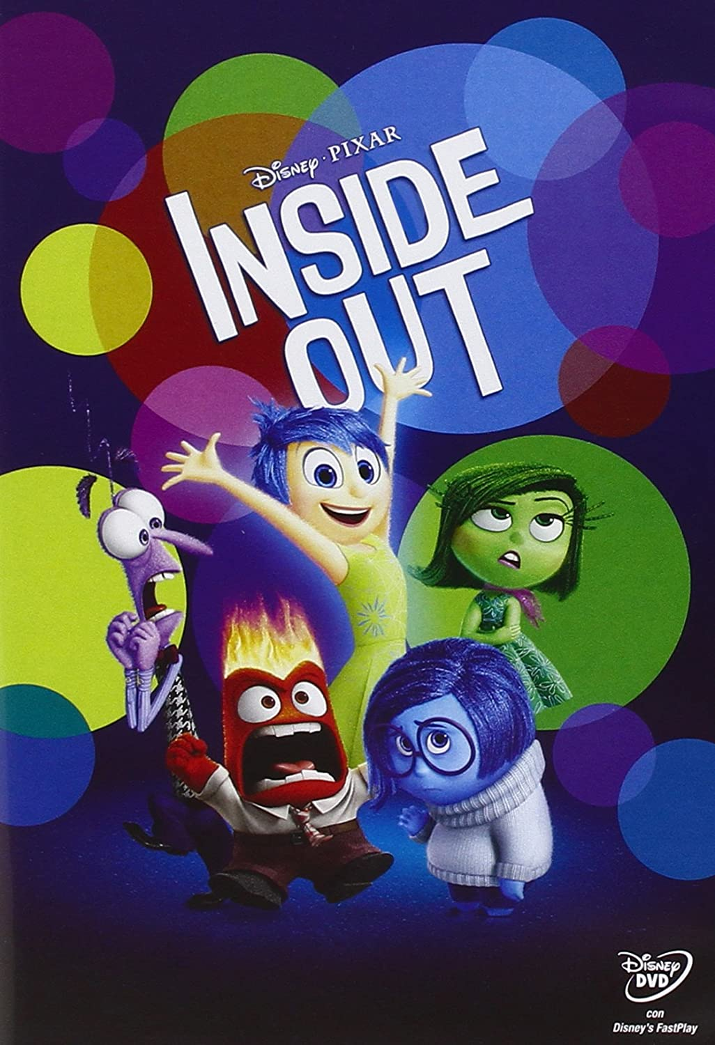 Inside out cartone animato disney pixar dvd nuovo
