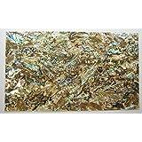 Shiny Paint Surface Flexible/Flat Enhanced Black/White/None Base Adhesive Veneer Sheet (Shiny Painted Cutline Sligtly Flexible, Dragon Abalone Brown) (Color: Dragon Abalone Brown, Tamaño: Shiny Painted Cutline Sligtly Flexible)
