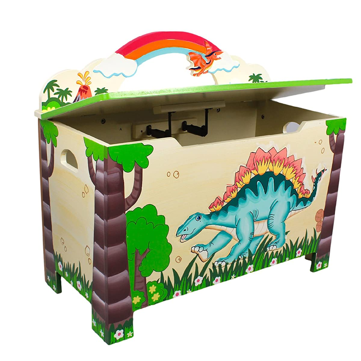 Dinosaur Kids Wooden Toy Chest