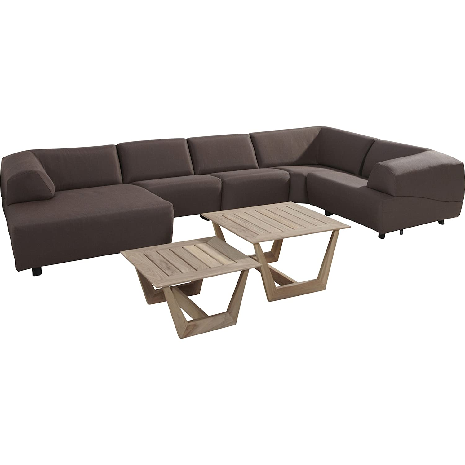 4Seasons Outdoor Hugo 7-teilige Loungegruppe aubergine inkl Kissen Loungesofa