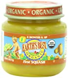 Earth's Best Organic First Squash, 2.5-Ounce Jars (Pack of 12)