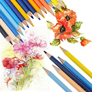 Set of 150 Watercolor Pencils with Unique Color Name, Water Soluble Art Pencils for Adult Coloring Book Sketching Painting (Color: 150 Watercolor Pencils, Tamaño: 150 pack)