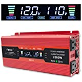 Cantonape 1000W/2000W(Peak) Car Power Inverter DC 12V to 110V AC Converter with LCD Display Dual AC Outlets and Dual USB Car Charger for Car Home Laptop Truck (Red) (Color: Red, Tamaño: 1000W)