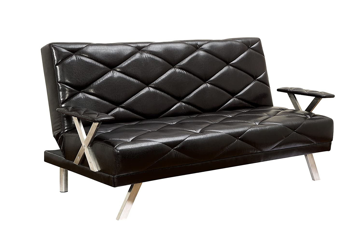 Furniture of America Novelle Futon Sofa - Black