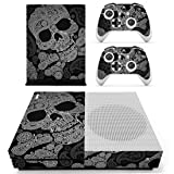 Decal Moments Xbox One S Slim (XB1 S) Console Remote Controllers Skin Set Vinyl Skin Decals Stickers Cover Ghost Skull
