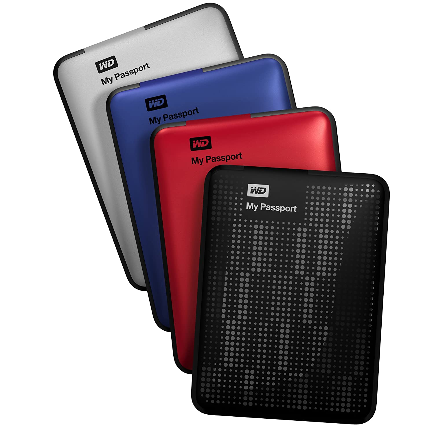 "Western Digital My Passport Disque dur externe portable 2,5"" USB 3.0 / USB 2.0 1 To Noir"