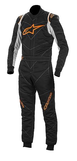 ALPINESTARS 3355014 - 156 Combinaison Auto, Noir/Orange Fluo, Taille : 54