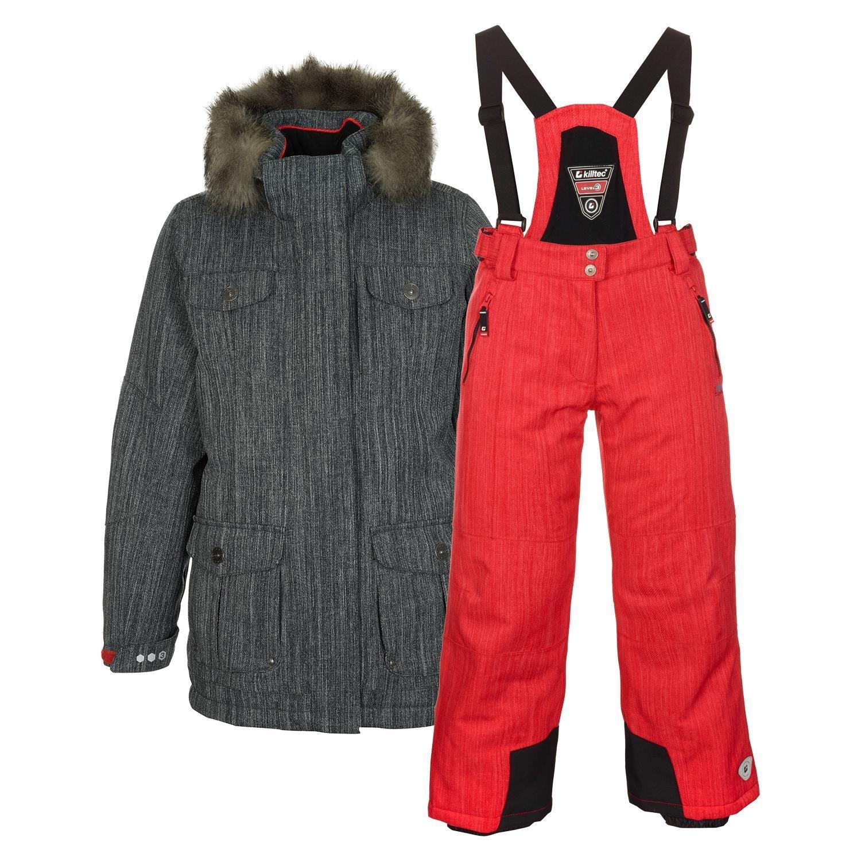 Killtec® Kinder Skianzug Gr. 128-176 Winter Funktionsjacke in grau Skihose in rot jetzt bestellen