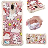 Huawei Mate 10 Lite Case, Ngift Flowing Liquid Floating Love Heart Bling Glitter Shock-Absorbing Soft TPU Case Cover for Huawei Mate 10 Lite - Pink Pony (Color: A-01-Pink Pony)