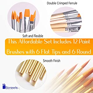 Watercolor Cake Set, 36 Watercolor Paint Set and 12 Paint Brushes. This Watercolors Set are Great for Children / kids and beginner artists. The perfect brushes and water color pan set. (Color: 36 Watercolors + 12 Brushes)