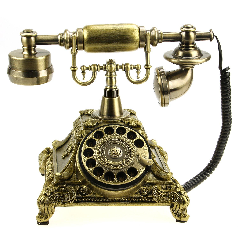 ancient phone vintage phone retro design rotary phone corded home decor table ebay. Black Bedroom Furniture Sets. Home Design Ideas