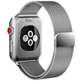 Apple Watch Band 38mm Milanese Loop for iWatch Series 3 2 1 Silver Color (Color: B-38mm silver, Tamaño: 38 mm)